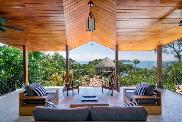 beach residence interior design and terrace