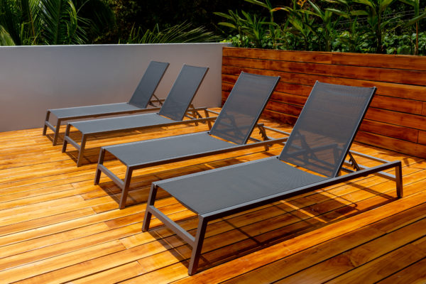 modern designed outdoor furniture that suits the modern concept of the house
