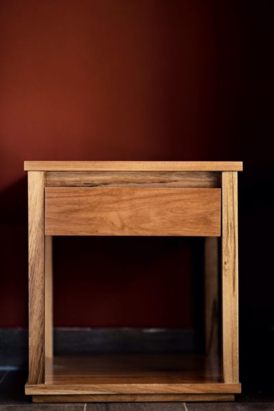 natural interior design wooden night table