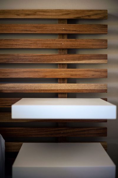 wooden accents in the bedroom for natural interior design