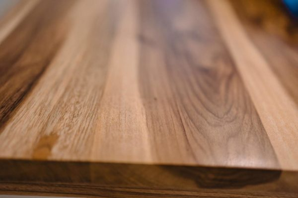 closeup of the fine wood that adds the barefoot luxury vibe